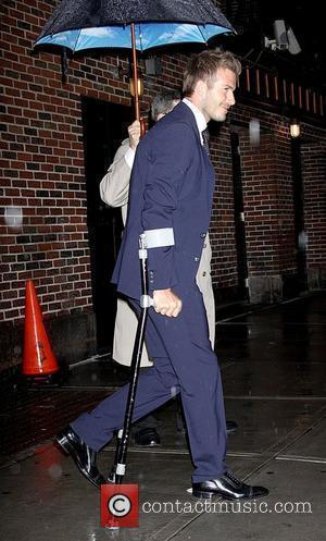 David Beckham and David Letterman
