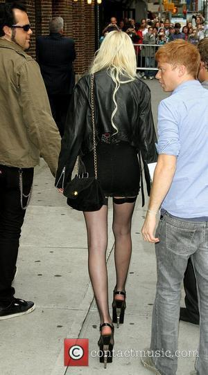 Taylor Momsen and David Letterman