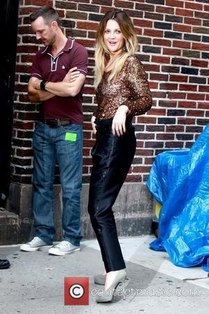 Drew Barrymore and David Letterman