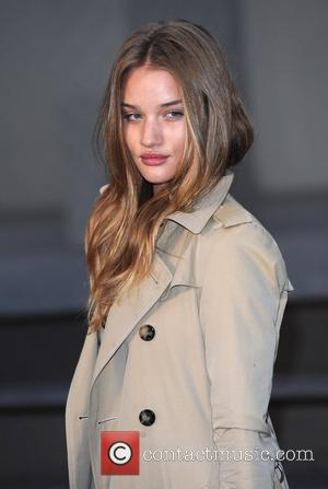 Rosie Huntington-Whiteley London Fashion Week Autumn/Winter 2010 - Burberry Prorsum - held at the Chelsea College of Art and Design...