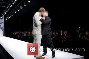 David Walliams and James Corden  London Fashion Week 2010 - Fashion For Relief - Haiti  London, England -...