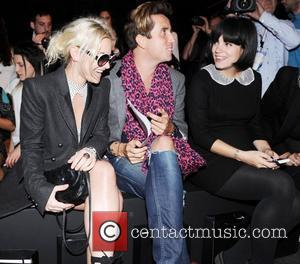 Jaime Winstone, Lily Allen and Nick Grimshaw