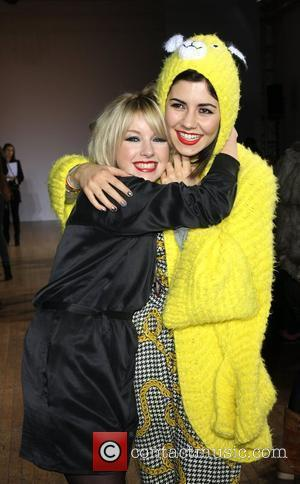 Victoria Hesketh, aka Little Boots, and Marina Diamandis of Marina and the Diamonds London Fashion Week Autumn/Winter 2010 - House...