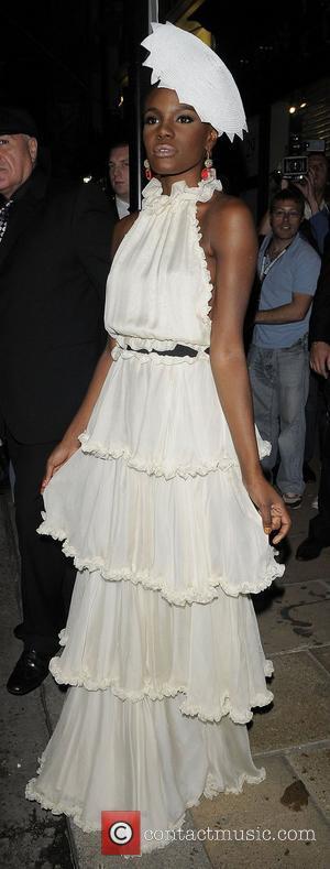 Shingai Shoniwa arriving at Kate Moss & Longchamp party in New Bond Street. London, England - 21.09.08