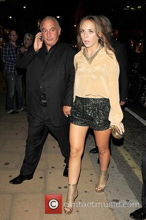 Philip Green and Chloe Green arriving at Kate Moss & Longchamp party in New Bond Street London, England - 21.09.10
