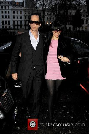 Nick Cave and Susie Bick London Fashion Week Autumn/Winter 2010 - Pam Hogg held at On|Off, Victoria House - Outside...