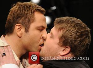 David Walliams and James Corden Share A Steamy Moment On The Catwalk