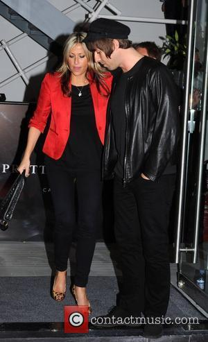 Liam Gallagher and Nicole Appleton Liam Gallagher's Pretty Green Pop-Up Shop - launch reception held at Carnaby Street. London, England...
