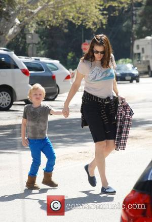 Liv Tyler with her son Milo William Langdon and family friends enjoying the weekend with a visit to Griffith Park...
