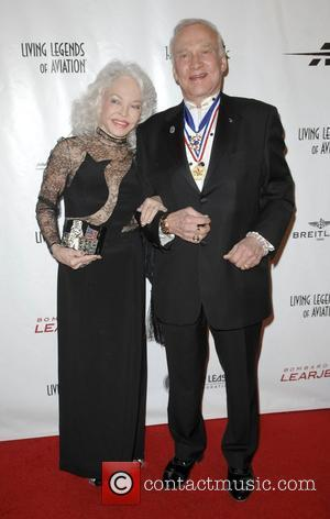 Buzz Aldrin and Lois Driggs Cannon The 8th Annual Living Legends of Aviation Awards at the Beverly Hilton - Arrivals...