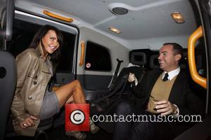 Lizzie Cundy and a friend outside the May Fair hotel London, England - 20.10.10