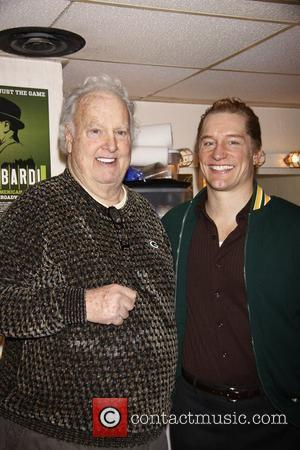 Paul Hornung and Bill Dawes (portrays Paul in 'Lombardi') Paul Hornung, Green Bay Packer Hall of Fame football player, visits...