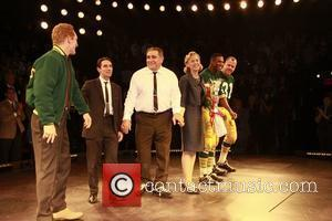 Bill Dawes, Keith Nobbs, Dan Lauria, Judith Light, Robert Christopher Riley and Chris Sullivan Opening night of the Broadway production...