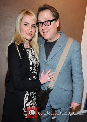 Vic Reeves and Nancy Sorell The opening night of the London Art fair held at the Business Design Centre in...