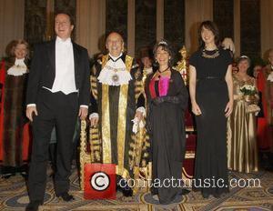 David Cameron, Michael Bear and Samantha Cameron