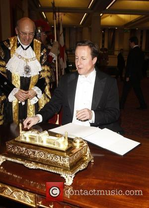 Prime Minister David Cameron The New Lord Mayor Banquet held at the Guildhall City of London London, England - 15.11.10