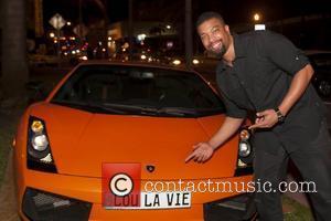 DeRay Davis Lou La Vie, Miami's premier luxury and exotic rental car debut at the Lebron James' 26th birthday party...