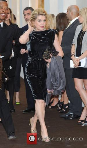 Catherine Deneuve Louis Vuitton unveils the New Bond Street Maison. London, England - 25.05.10