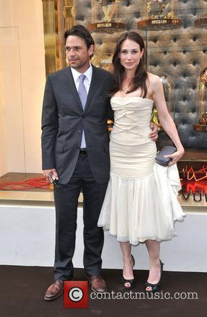 Dougray Scott and Claire Forlani Louis Vuitton unveils the New Bond Street Maison. London, England - 25.05.10