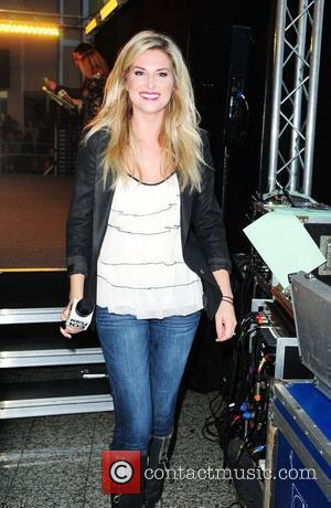 Sarah Jayne Dunn  performs at the Lowery Outlet Mall as part of the Christmas Light Switch On. Manchester, England...