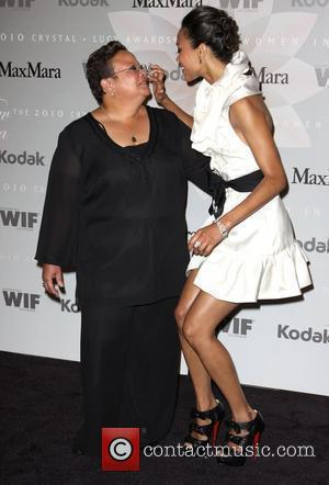 Zoe Saldana, Her Mother and Asalia Nazario