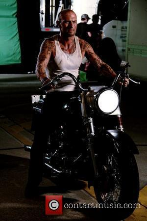 Luke Goss filming on set of his new movie 'Blood Out'.  The film also stars Vinnie Jones and Tamer...