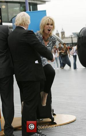 Joanna Lumley and Boris Johnson