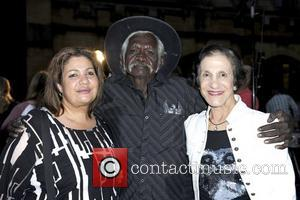 (l-r) Robyn Shields, Douglas Macale, Marie Bashir The world premiere of 'Mad Bastards' held at Sydney University with a live...