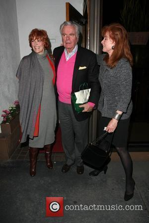 Robert Wagner and Guests leaving Madeo restaurant in west Hollywood after celebrating his birthday Hollywood, California - 11.02.10