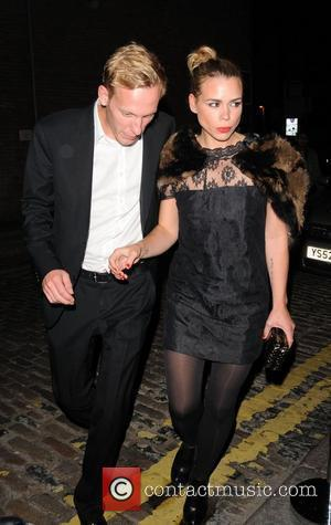 Billie Piper and Her Husband Laurence Fox Arrive At Shoreditch House In London's Trendy East End