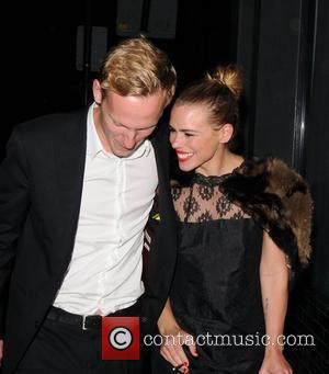 Billie Piper and her husband Laurence fox arrive at Shoreditch House in London's trendy East End London, England - 14.08.10