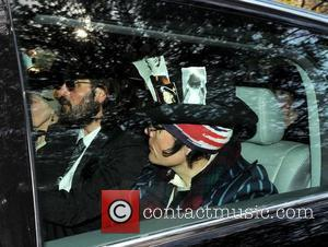 Adam Ant and Andreas Kronthaler leaving the funeral service for the late Malcolm McLaren McLaren, The former Sex Pistols manager...