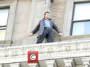 Sam Worthington  on the set of his new movie 'Man on a Ledge' New York City, USA - 06.11.10
