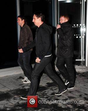 Gary Neville, Paul Scholes Manchester United football players arrive for their Christmas Party at the Alchemist Bar in Manchester. Manchester,...