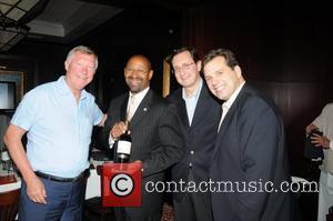 Sir Alex Ferguson, Mayor Michael Nutter, Concha y Toro's Giancarlo Bianchetti, and Sebastian Lopez Manchester United at a wine tasting...