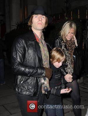 Liam Gallagher and Nicole Appleton at the launch of CNN's 'Piers Morgan Tonight' at the Mandarin Oriental hotel. - Outside...