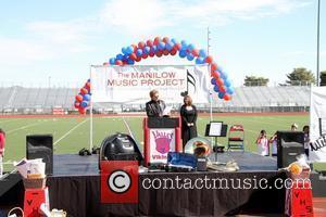 Barry Manilow  Manilow Music Project donation ceremony at Valley High School on October 7, 2010 in Las Vegas, Nevada....