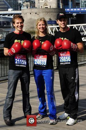 Sam Branson, Holly Branson and Dave Clarke  Photocall for the 2010 Virgin London Marathon outside the Tower Hotel London,...