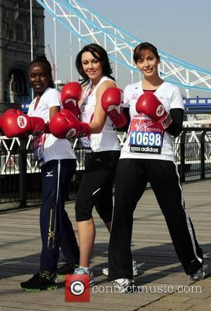 Tegla Loroupe, Michelle Heaton and Natalie Imbruglia