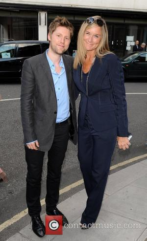 Christopher Bailey and Angela Ahrendts Mario Testino: Kate Who? - private view at Phillips de Pury & Company. London, England...