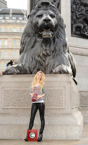 Marissa Miller  in Trafalgar Square ahead of this weekend's NFL game in London London, England - 28.10.10
