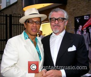 Kid Creole and Chris Sullivan Mark Powell shop opening launch on Marshall street in London's West End London, England -...