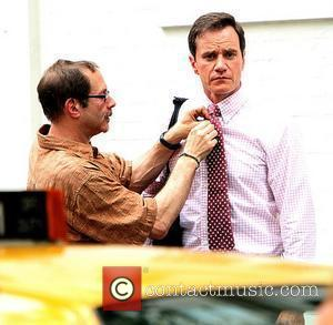 Tim Dekay shooting on location for the 2nd season of USA Networks television series, 'White Collar', in New York City...