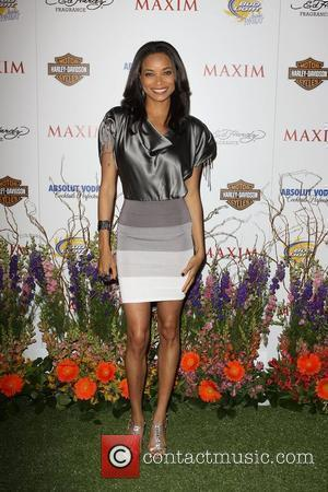 Rochelle Aytes Maxim Hot 100 Party With Harley-Davidson, Absolut Vodka, Ed Hardy Fragrances and Rogaine held At Paramount Studios Los...