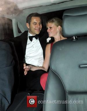 David Walliams and Lara Stone Guests attend Elton John's White Tie and Tiara Ball London, England - 24.06.10
