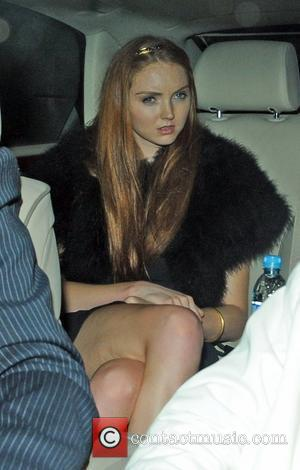 Lily Cole and Elton John