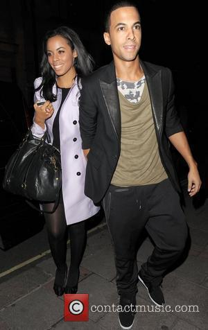 Rochelle Wiseman from girl group The Saturdays, enjoys a night out with her boyfriend Marvin Humes, from boy band JLS...