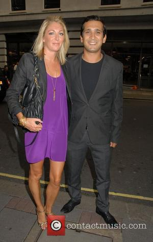 Jimi Mistry and guest outside The May Fair Hotel London, England - 17.08.10