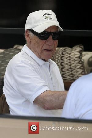 Mel Brooks having lunch with a friend in Beverly Hills. Los Angeles, California - 24.09.10