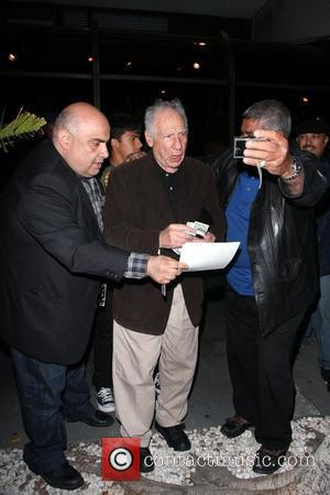 Mel Brooks leaving Madeo Restaurant in Beverly Hills Los Angeles, California - 15.04.10